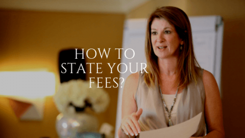 How to State Your Fees